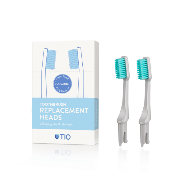 TIO - Replaceable toothbrush heads in grey / soft