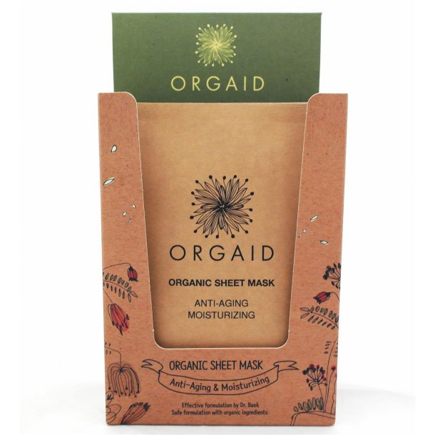 ORGAID Display med 12 stk. Anti-Aging & Moisturizing Organic Sheet Mask