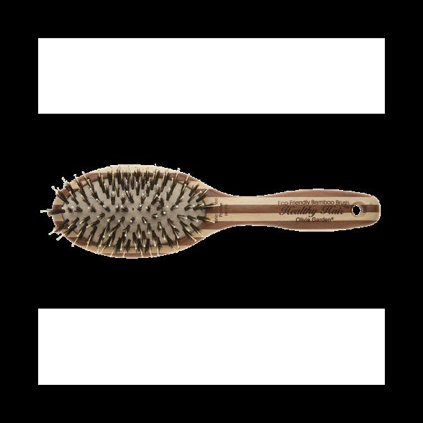 Olivia Garden - Bambus Hårbørste med Ion og Vildsvine hår