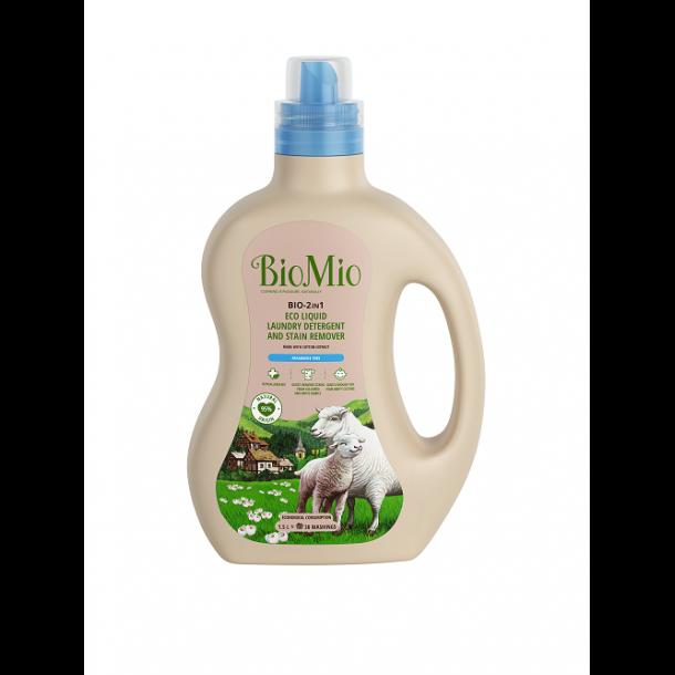 BioMio - Bio-2 i 1 Flydende Vaskemiddel med Pletfjerner