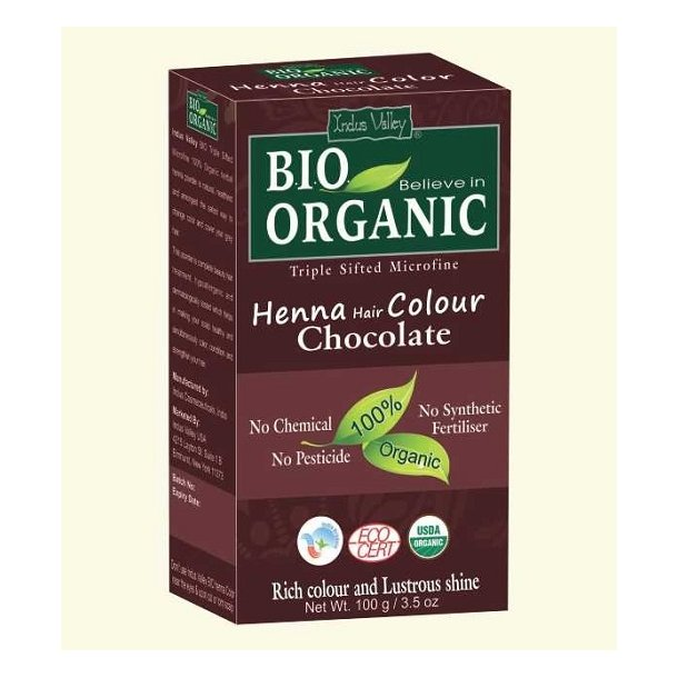 Indus Valley - Bio Organic Henna Hair Color Chocolate
