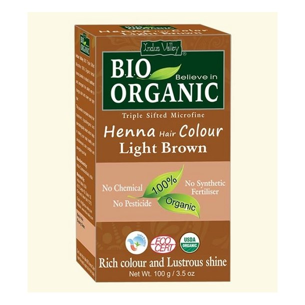 Indus Valley - Bio Organic Henna Hair Color Light Brown