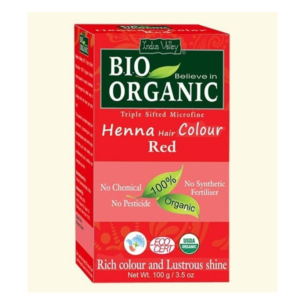 Indus Valley - Bio Organic Henna Hair Color Red