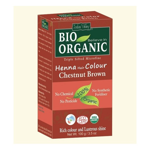 Indus Valley - Bio Organic Henna Hair Color Chestnut Brown