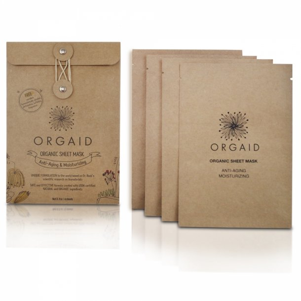 ORGAID - Anti-Aging & Moisturizing Organic Sheet Mask 4-pack