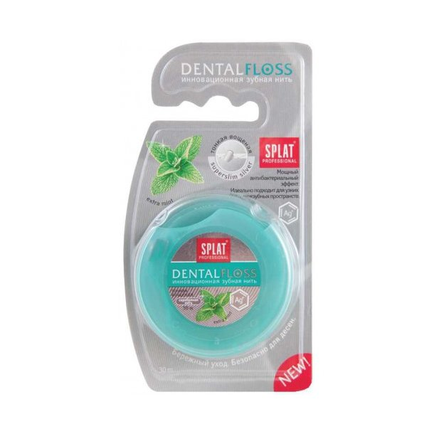SPLAT® - Dental Floss with silver thread and Mint