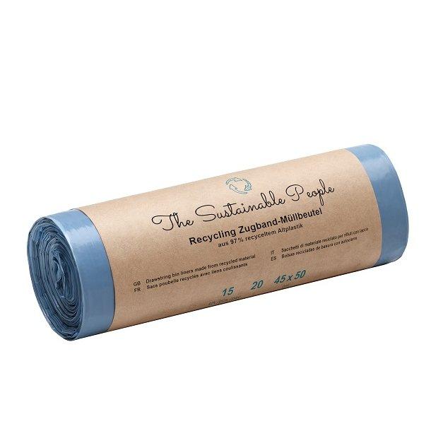 The Sustainable People -  Affaldsposer af Genanvendt Plastik 20 L