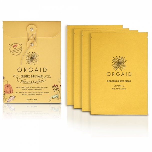 ORGAID - Vitamin C & Revitalizing Organic Sheet Mask 4-Pak