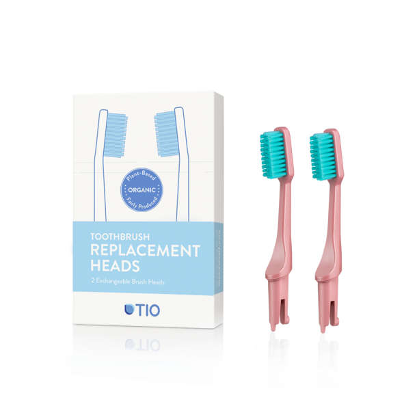 TIO - Replaceable toothbrush heads in pink / soft