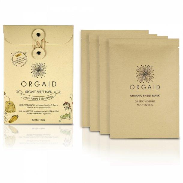 ORGAID - Greek Yogurt & Nourishing Organic Sheet Mask 4-pack