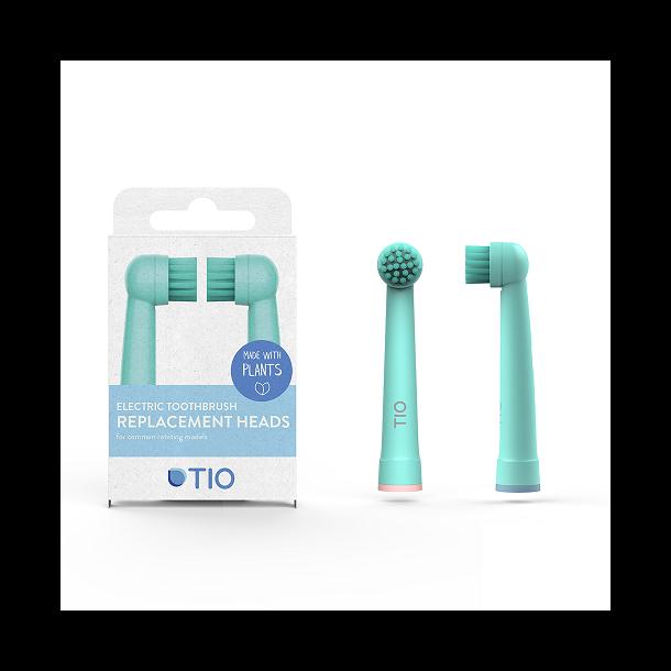 TIO - TIOMATIK Tandbørstehoveder i Medium / Koral - Blå