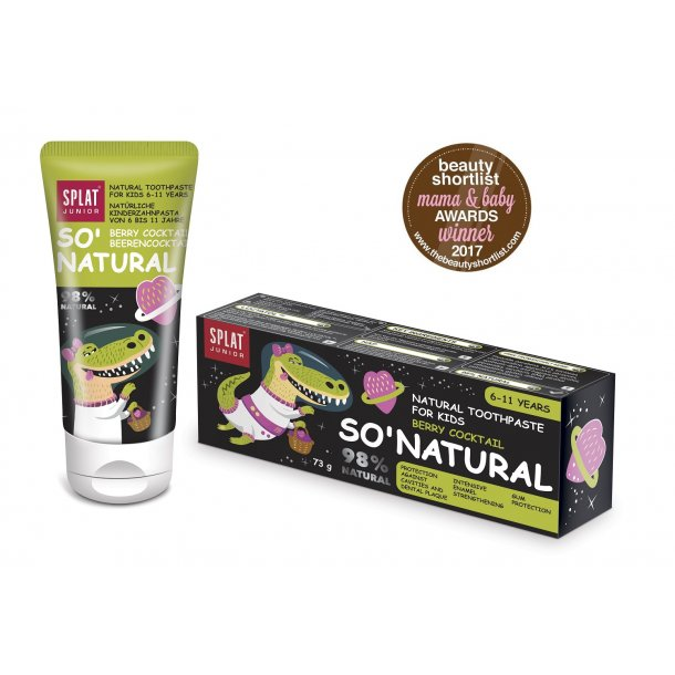SPLAT® JUNIOR - SO` NATURAL Toothpaste berry age 6-11