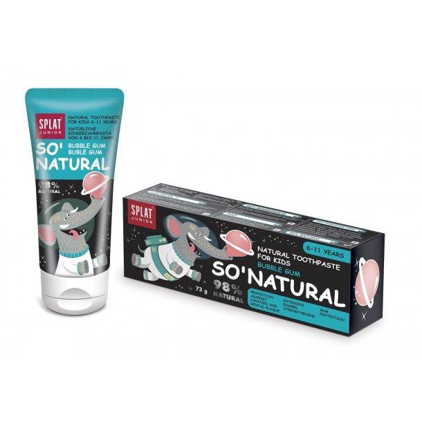 SPLAT® JUNIOR - SO` NATURAL Toothpaste Buble gum  age 6-11