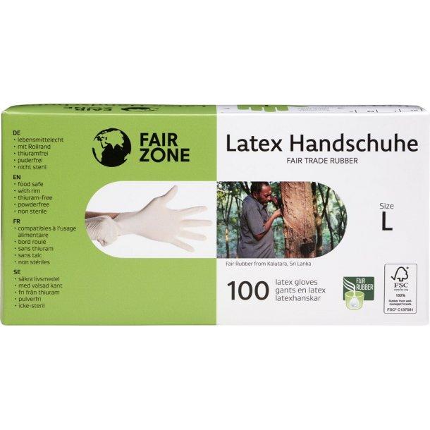 FAIR ZONE - Latex Handsker str. L