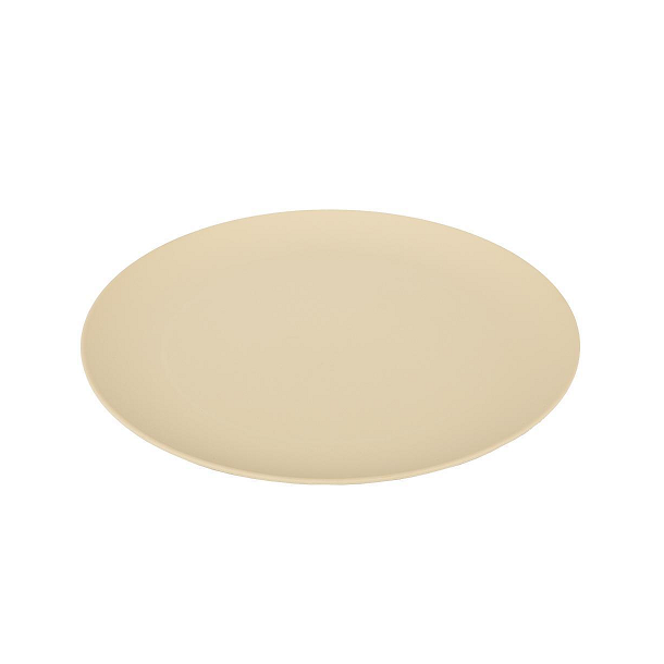 Pandoo - 6 pcs. Flat Bamboo Plates in Beige 25 cm