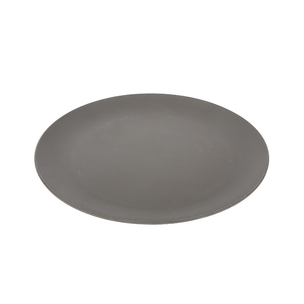 Pandoo - 6 pcs. Flat Bamboo Plates in Coke Gray 25 cm