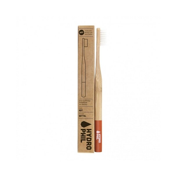HYDROPHIL Bamboo Toothbrush - Medium Red