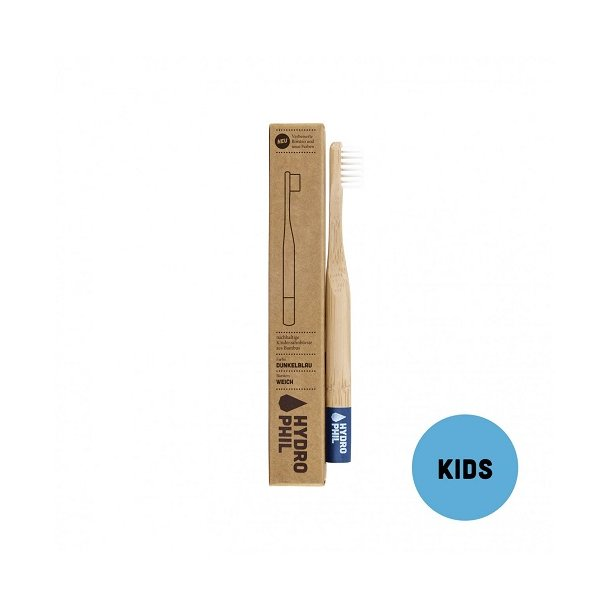 HYDROPHIL Bamboo Toothbrush for kids - Blue