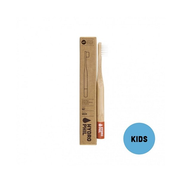HYDROPHIL Bamboo Toothbrush for kids - Red