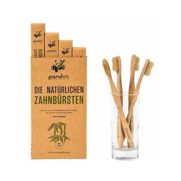 Pandoo - 4-pak Bambus Tandbørster