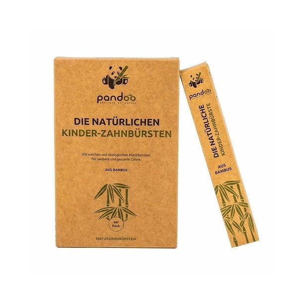 Pandoo - 4-pack of Bamboo Children's Toothbrushes