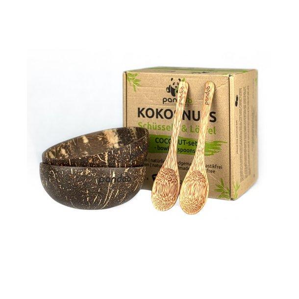Pandoo - Kokosnødde Skåle & Palmetræ Skeer