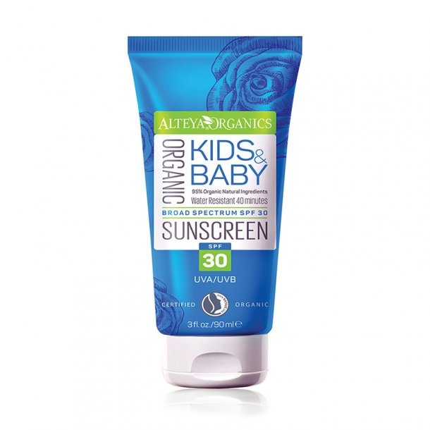 Alteya Organics - Organic Kids and Baby Sunscreen SPF 30