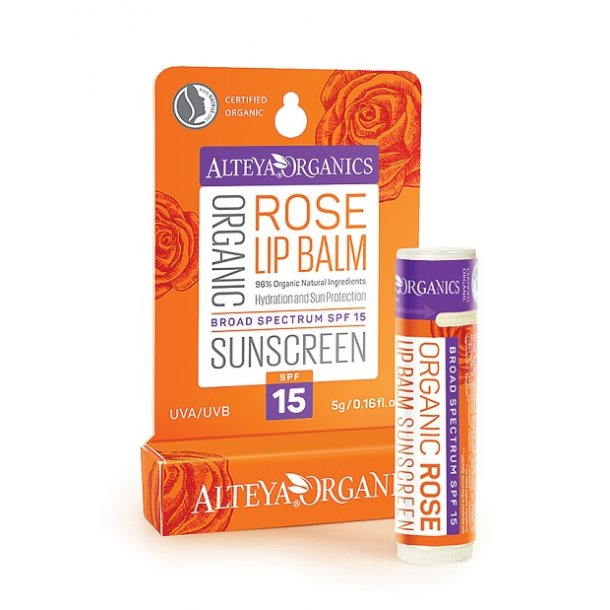 Alteya Organics - Organic Rose Lip Balm Sunscreen