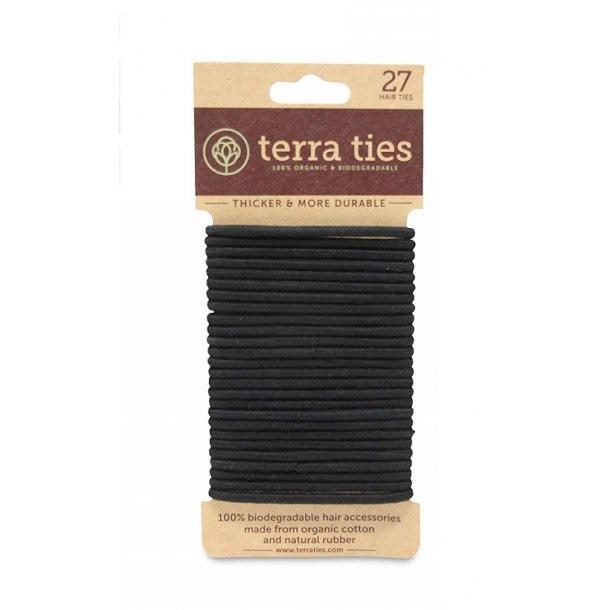 terra ties - Miljøvenlige Hårelastikker i Sort