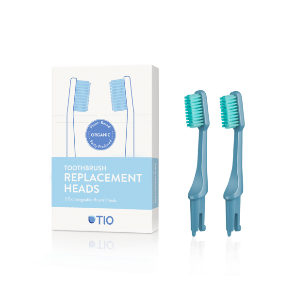 TIO - Replaceable toothbrush heads in blue / soft