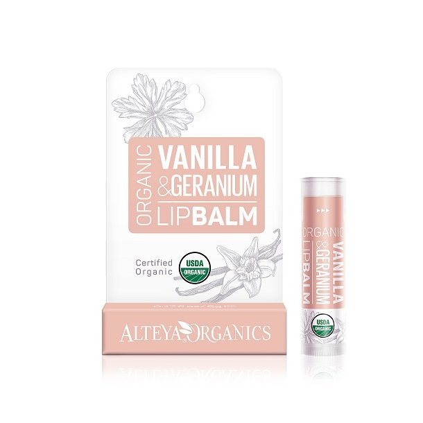 Alteya Organics - Vanilla Geranium Lip Balm