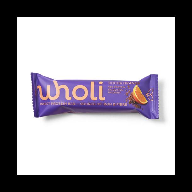 wholi - Insektprotein Bar med Kakao Orange
